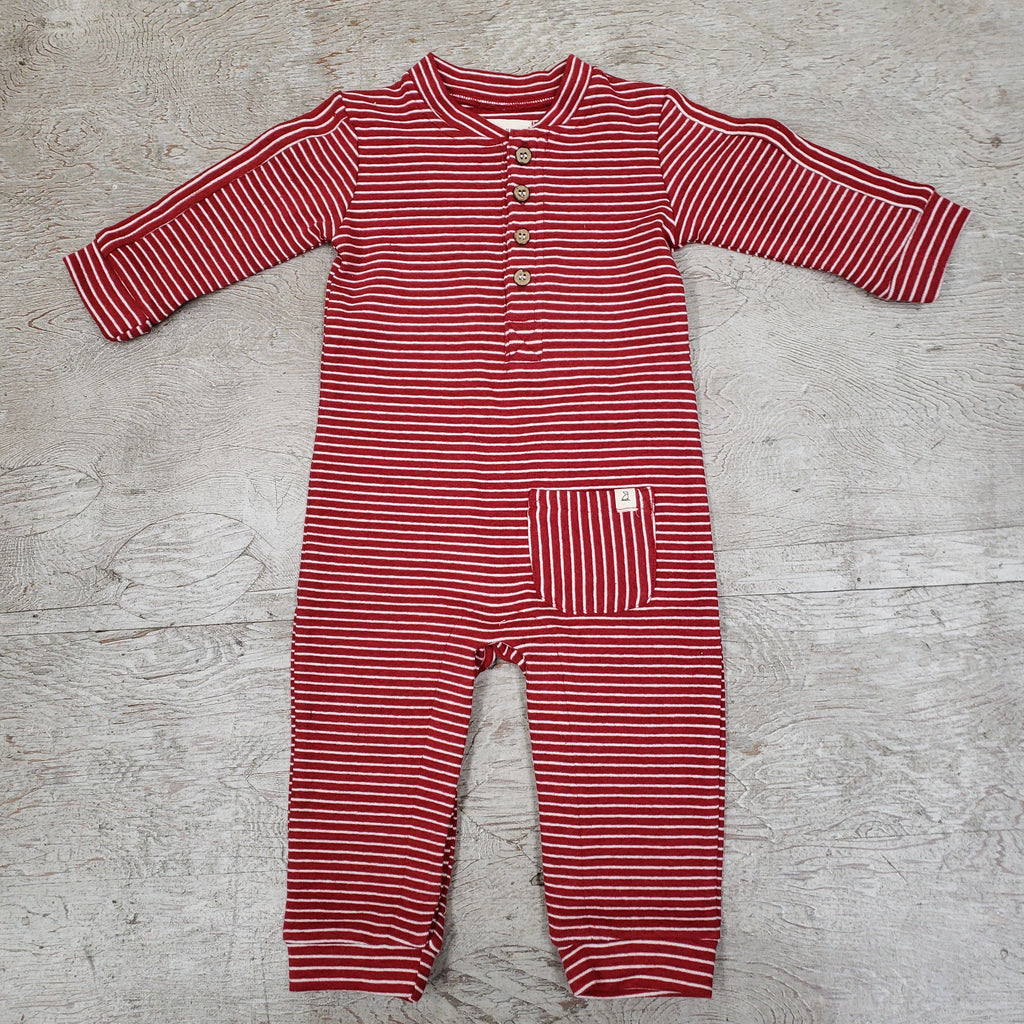 Me & Henry striped cotton romper