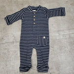 Me & Henry Cotton Striped Onesie