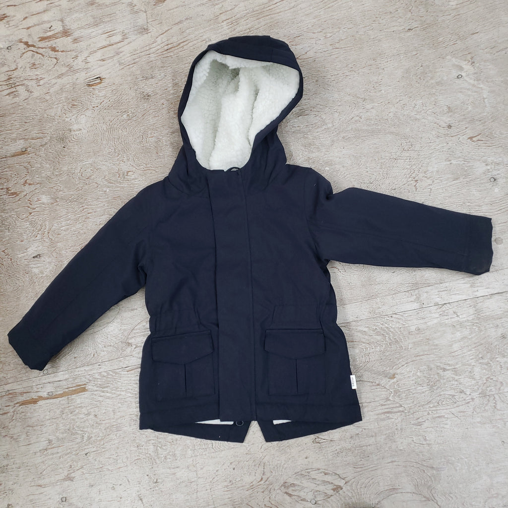 Boys Navy Fleece lined jacket