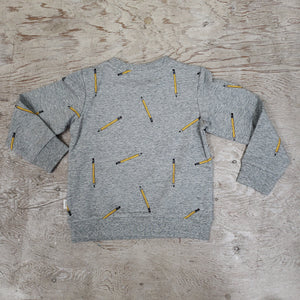 Boys pencil print sweatshirt