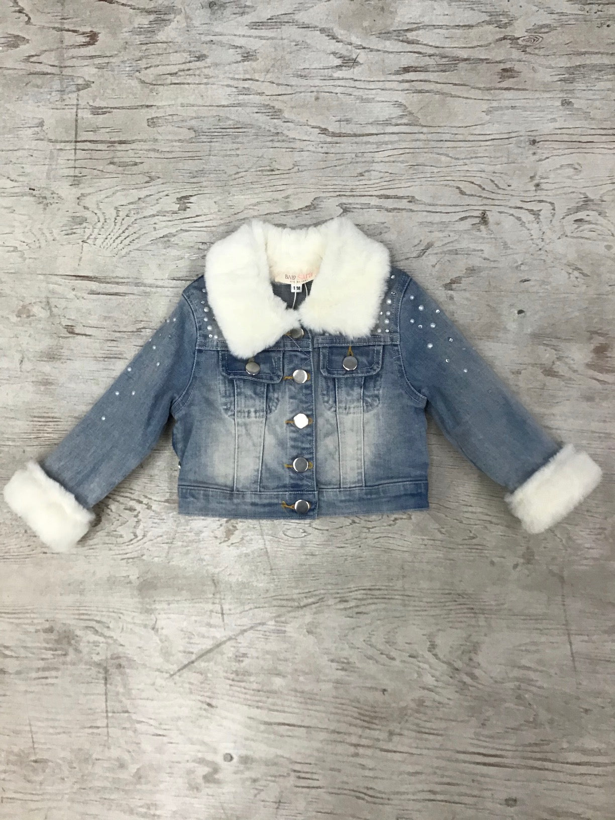 Baby Sara washed denim jacket