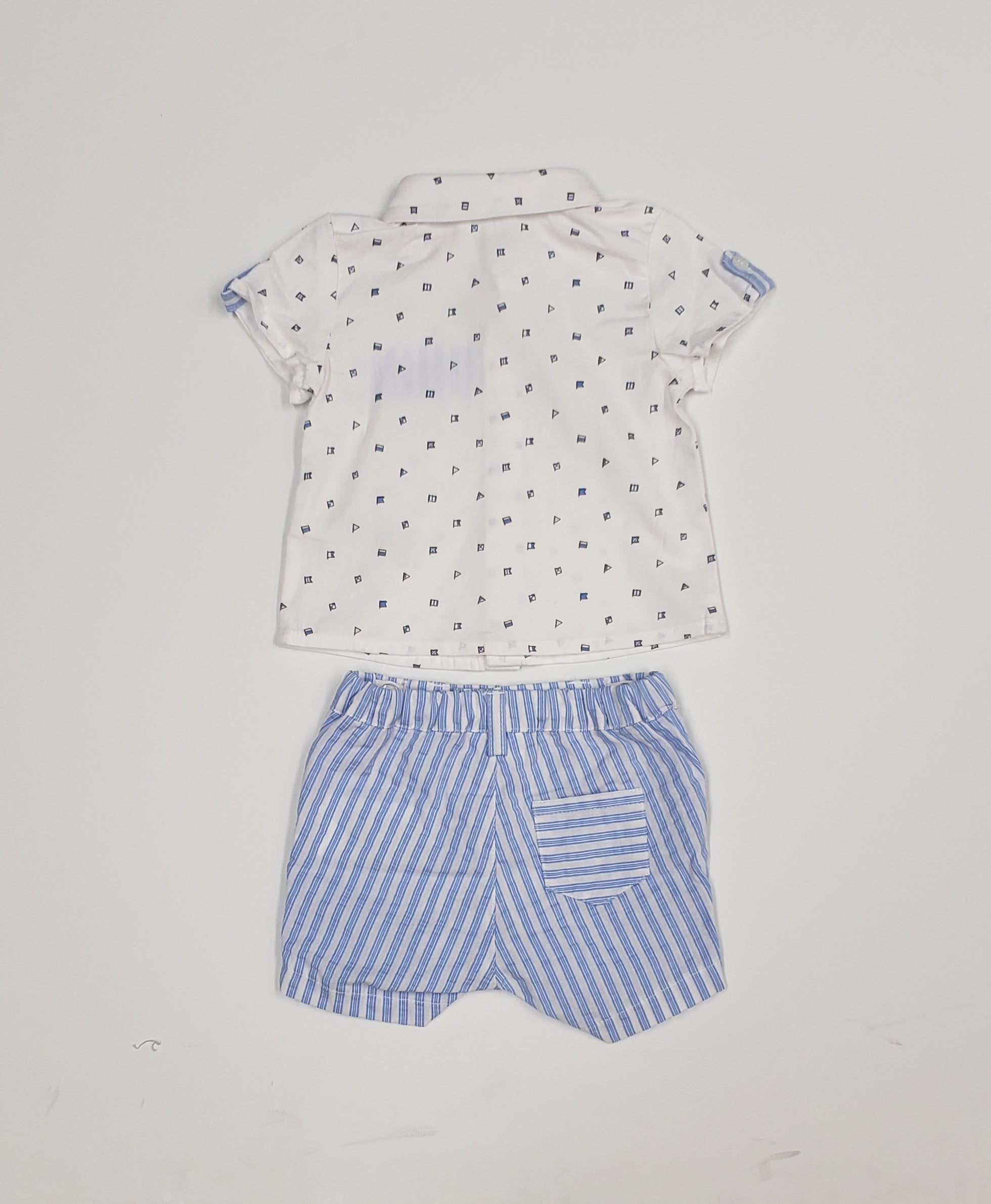 Baby boys dressy short set