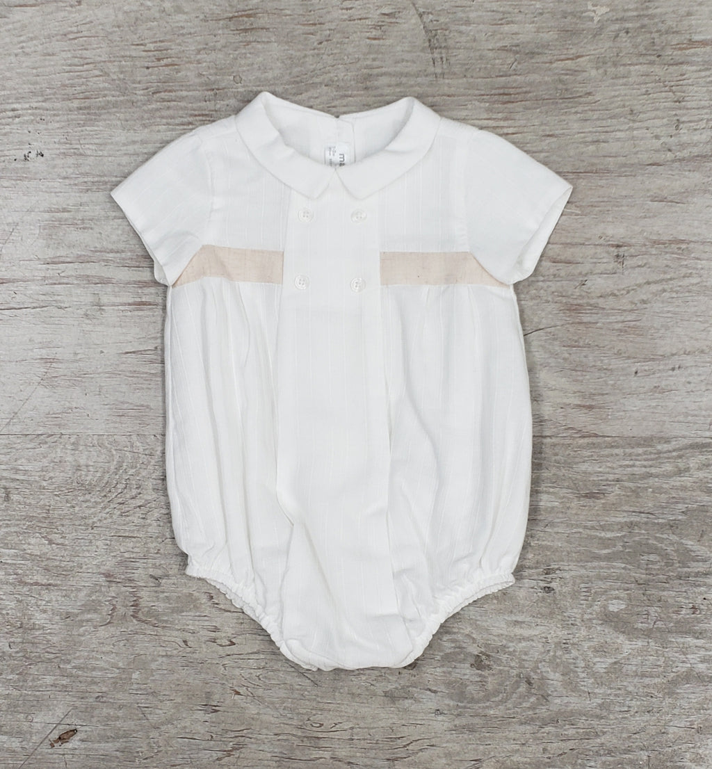 Baby boys dressy bubble romper