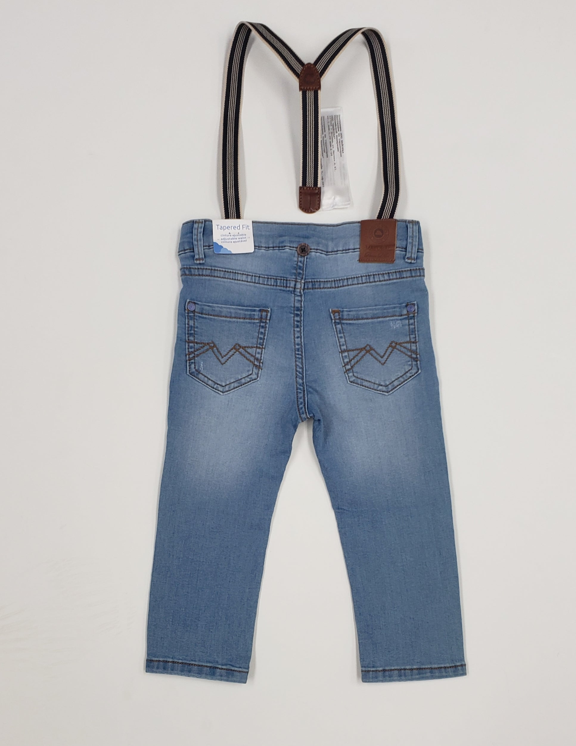 Baby Boy and Toddler suspender jeans