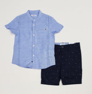 Boys Navy Dress Shorts