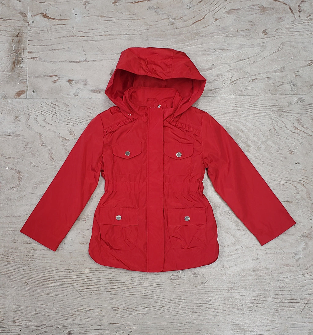 Girls Red Windbreaker