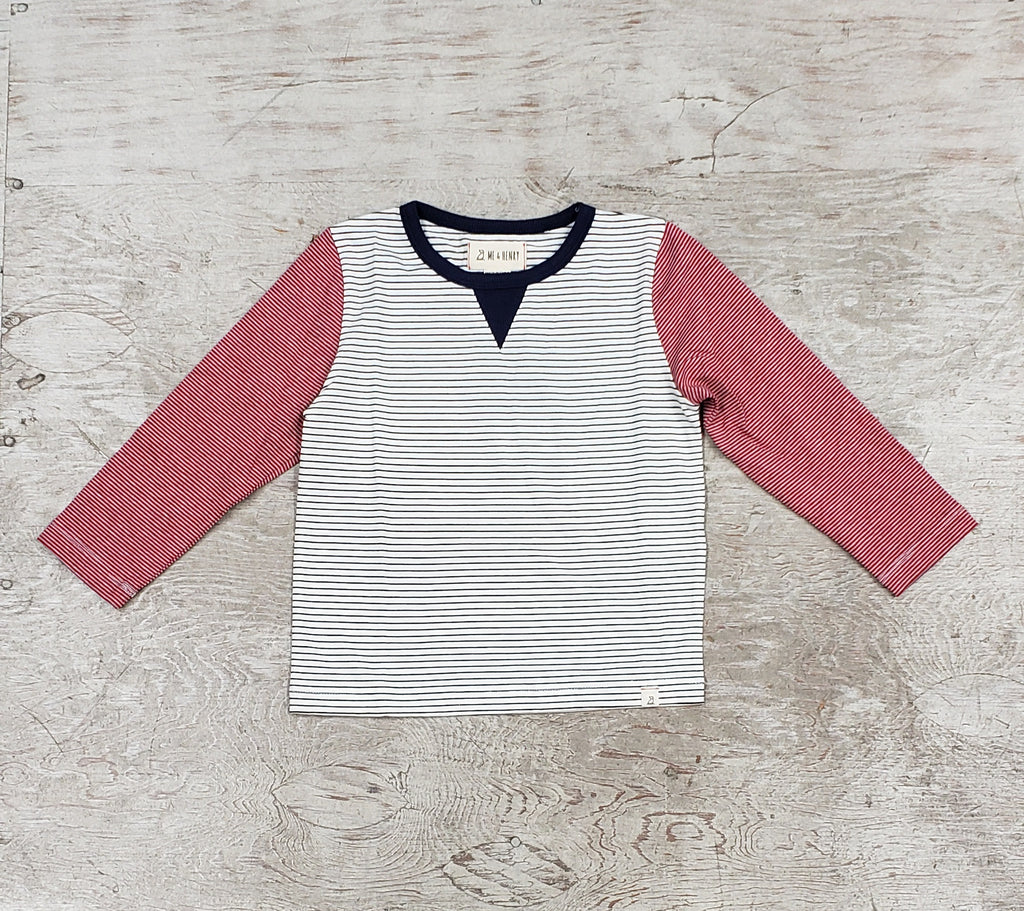 Boys Striped Long Sleeved Tee