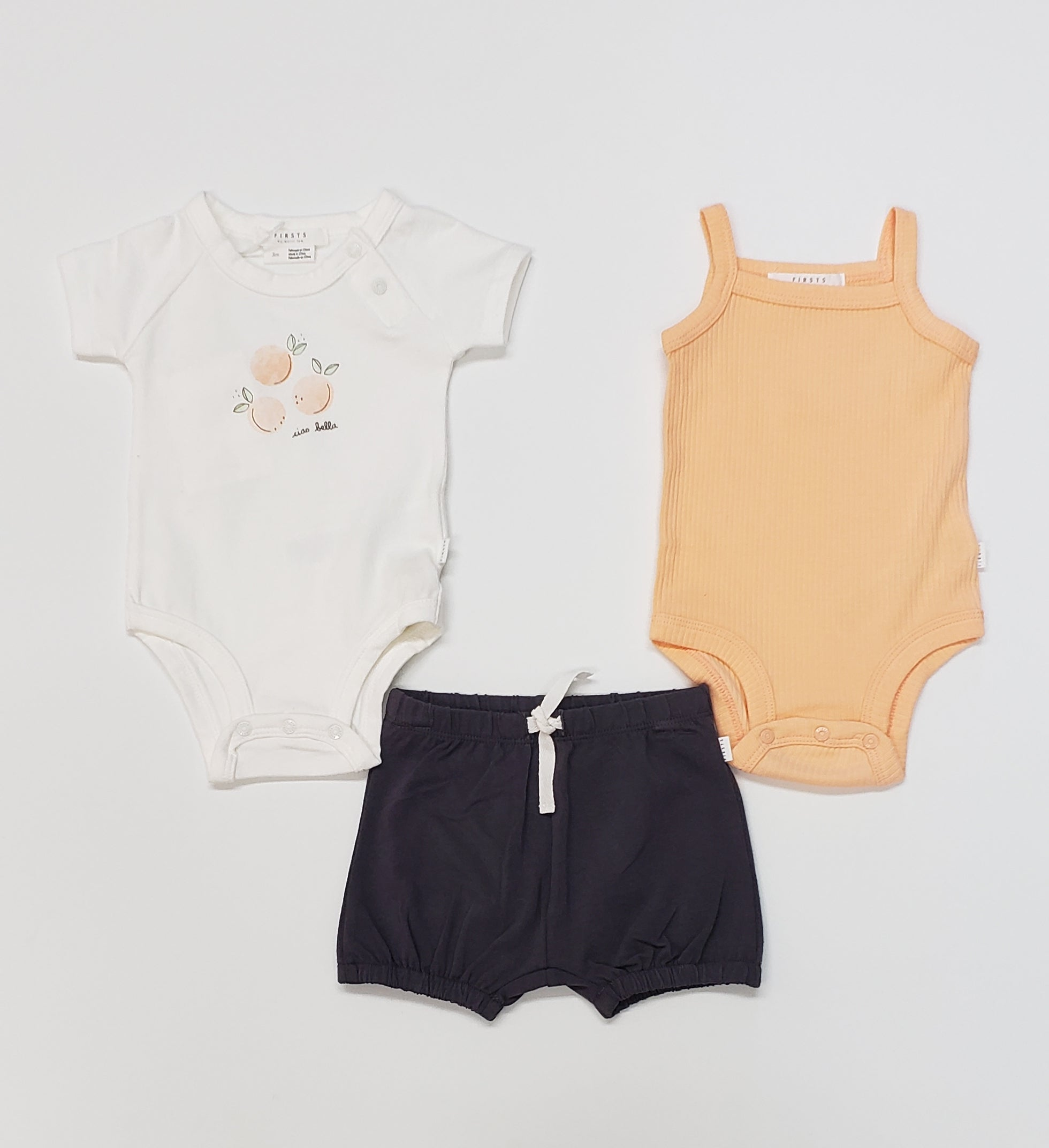 Firsts by Petit Lem - 3-Piece Soft Cotton Baby Girl Set