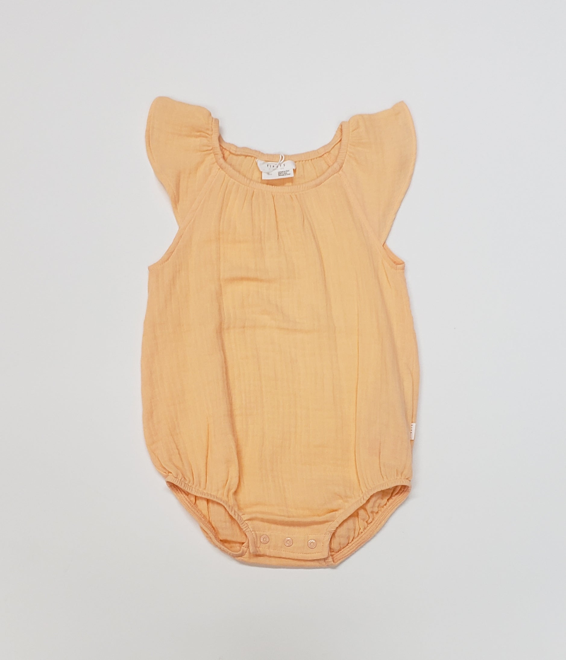 Firsts by Petit Lem - Cotton Gauze Bubble Romper with Snaps