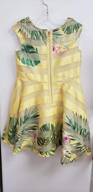 Tropical yellow dress