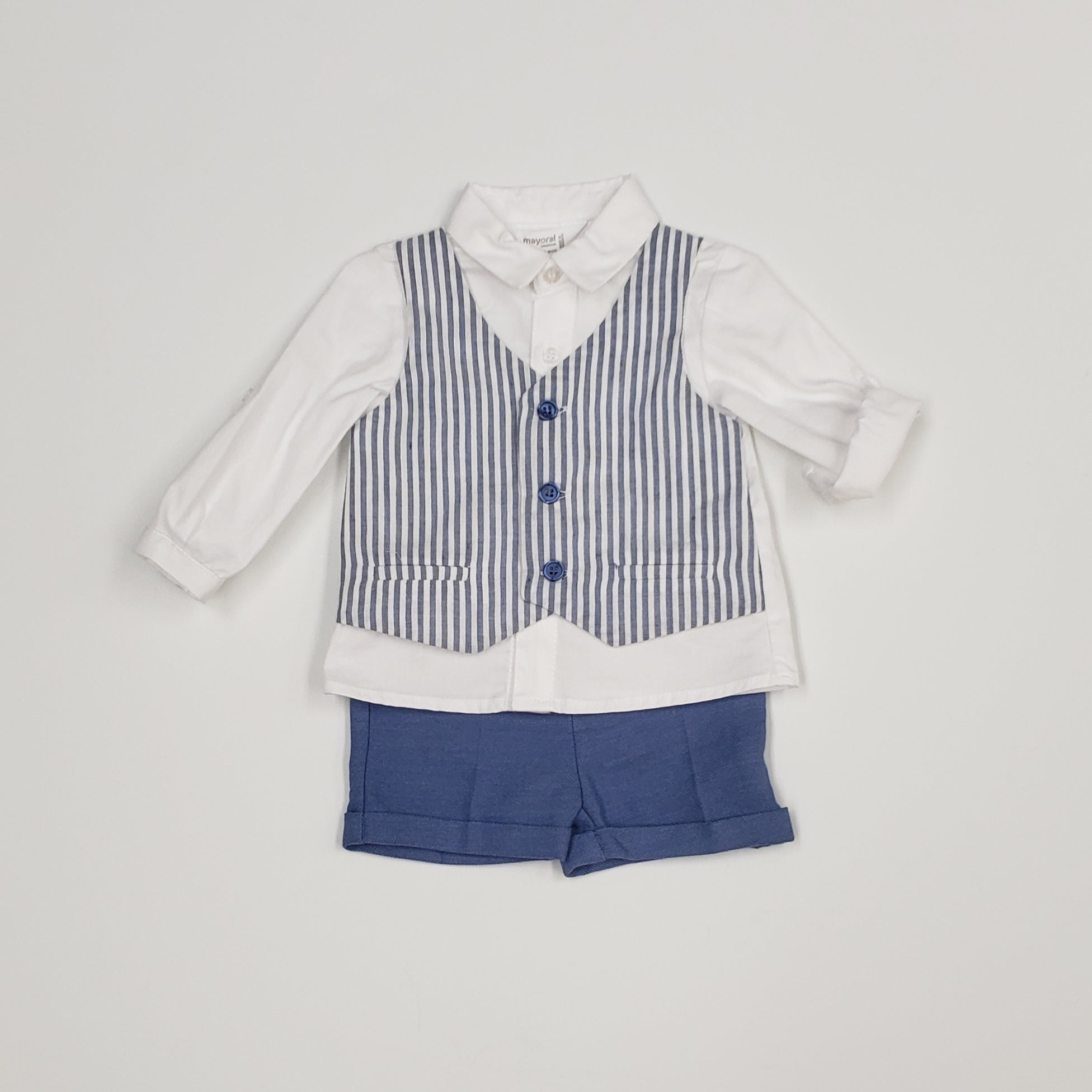 Mayoral 2-Piece Cotton/Linen Boys Set