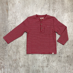 Boys Red Striped Henley