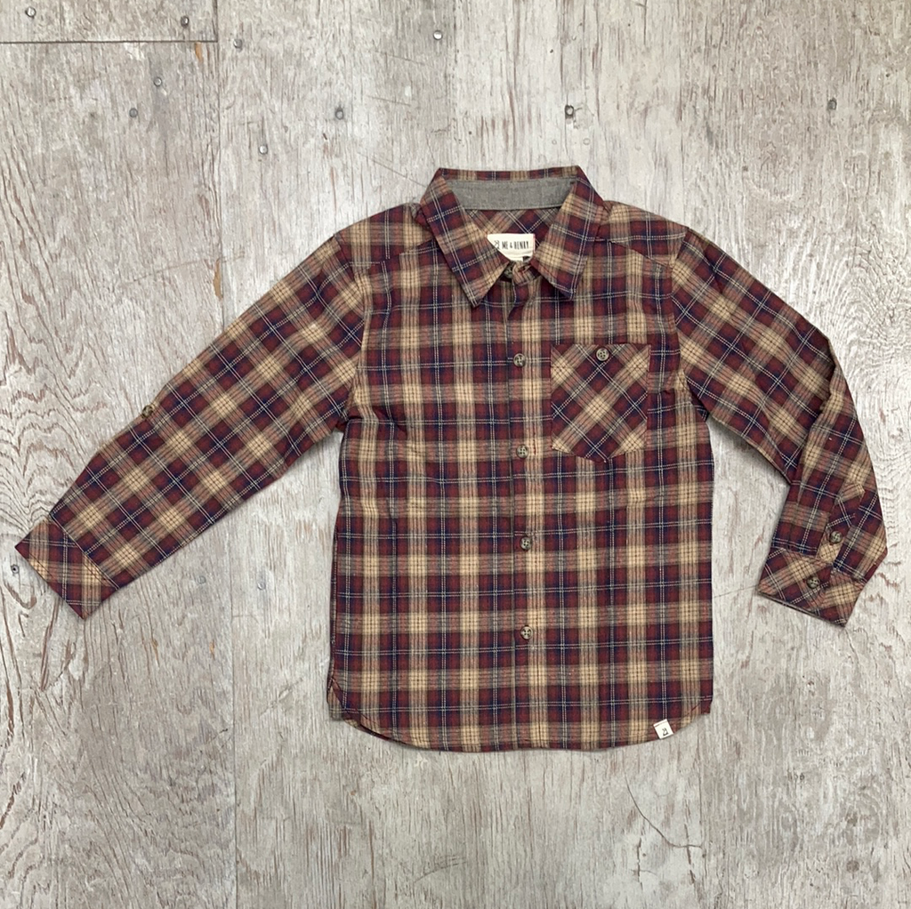 Boys Plaid Buttondown