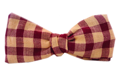 The Steinbeck Garnet Bow Tie