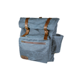 Wax Canvas Roll Top Backpack in Blue