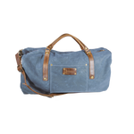 Wax Canvas Weekender Bag in Blue