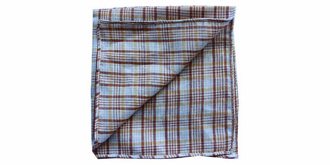 The Brown Check Pocket Square