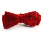 The Dean Martin Red Velvet Bow Tie