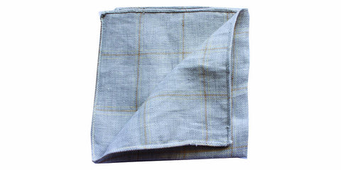 The Gray Brown Linen Pocket Square