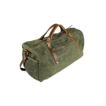 Wax Canvas Weekender Bag in Green