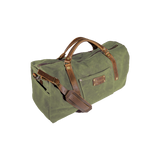 Wax Canvas Weekender Bag in Tan