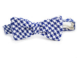 The Gregory Peck Houndstooth Woven Blue Bow Tie