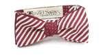 The Plum Stripe and Polka Dot Silk Reversible Bow Tie