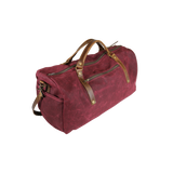 Wax Canvas Weekender Bag in Burgundy