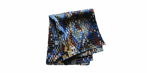 The Snake Silk Pocket Square