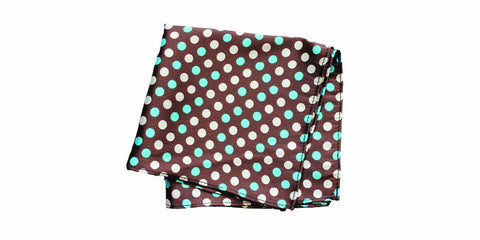 The Teal Dot Silk Pocket Square