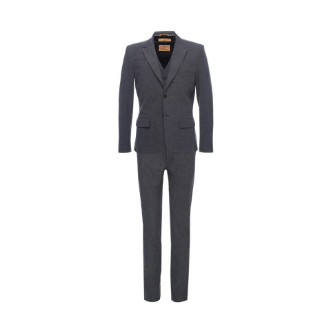 Three Piece Suit in Slate