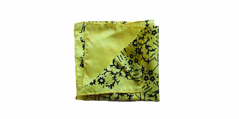 The Yellow Silk Pocket Square