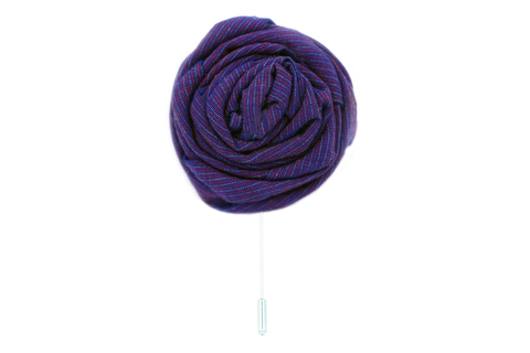 The Deep Purple Lapel Flower