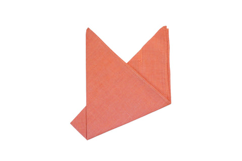 The Orange Solid Pocket Square