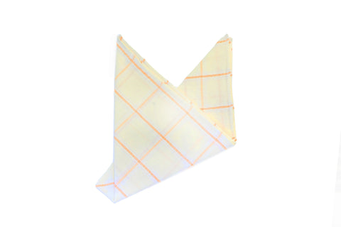 The Apricot Window Pane Pocket Square