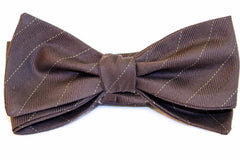 Brown striped vintage bow tie