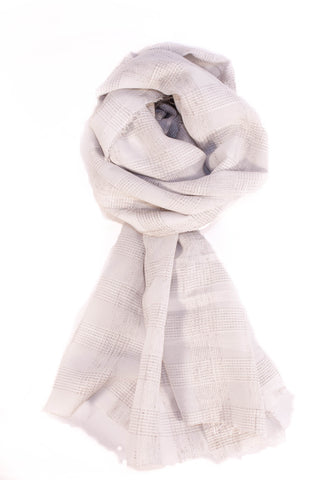 The White Check Scarf