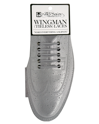 WHOLESALE (Case Packs of 3) Wingman Tieless Shoelaces - GREY
