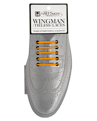 WHOLESALE (Case Packs of 3) Wingman Tieless Shoelaces - ORANGE