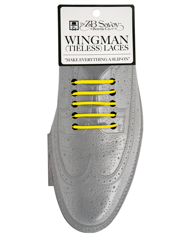 WHOLESALE (Case Packs of 3) Wingman Tieless Shoelaces - YELLOW
