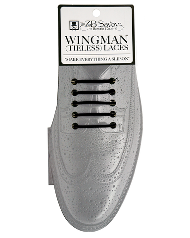 Wingman Tieless Shoelaces - BLACK