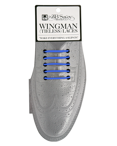 "Wingman ""WIDES"" (2"") Tieless Shoelaces - BLUE"