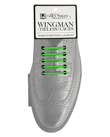 Wingman Tieless Shoelaces - GREEN