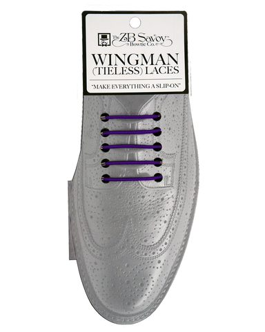 Wingman No Tie Shoelaces - PURPLE