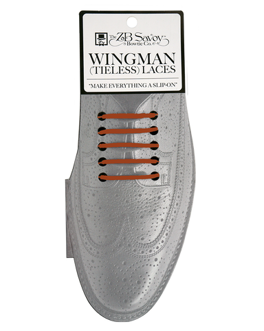 Wingman Tieless Shoelaces - BROWN