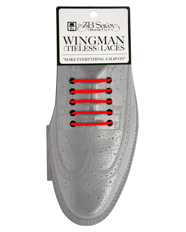 WHOLESALE (Case Packs of 3)  Wingman Tieless Shoelaces - RED