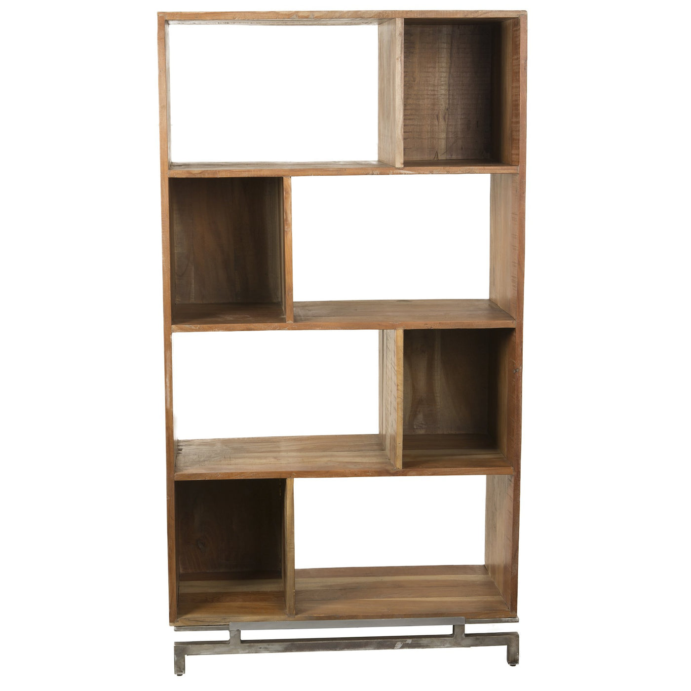 Rustic Modern Metal Wood Bookcase Barnaby S Loft Wholesale