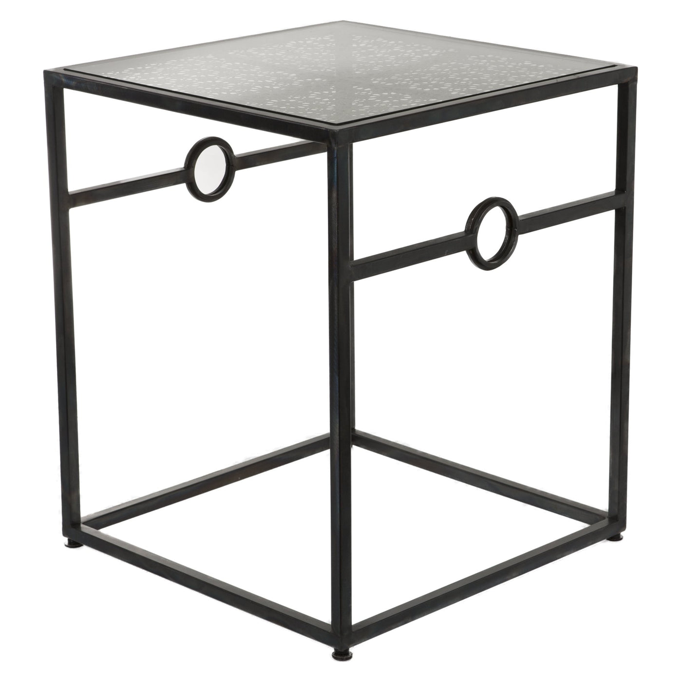 Contemporary Metal Glass Side Table Barnaby S Loft Wholesale