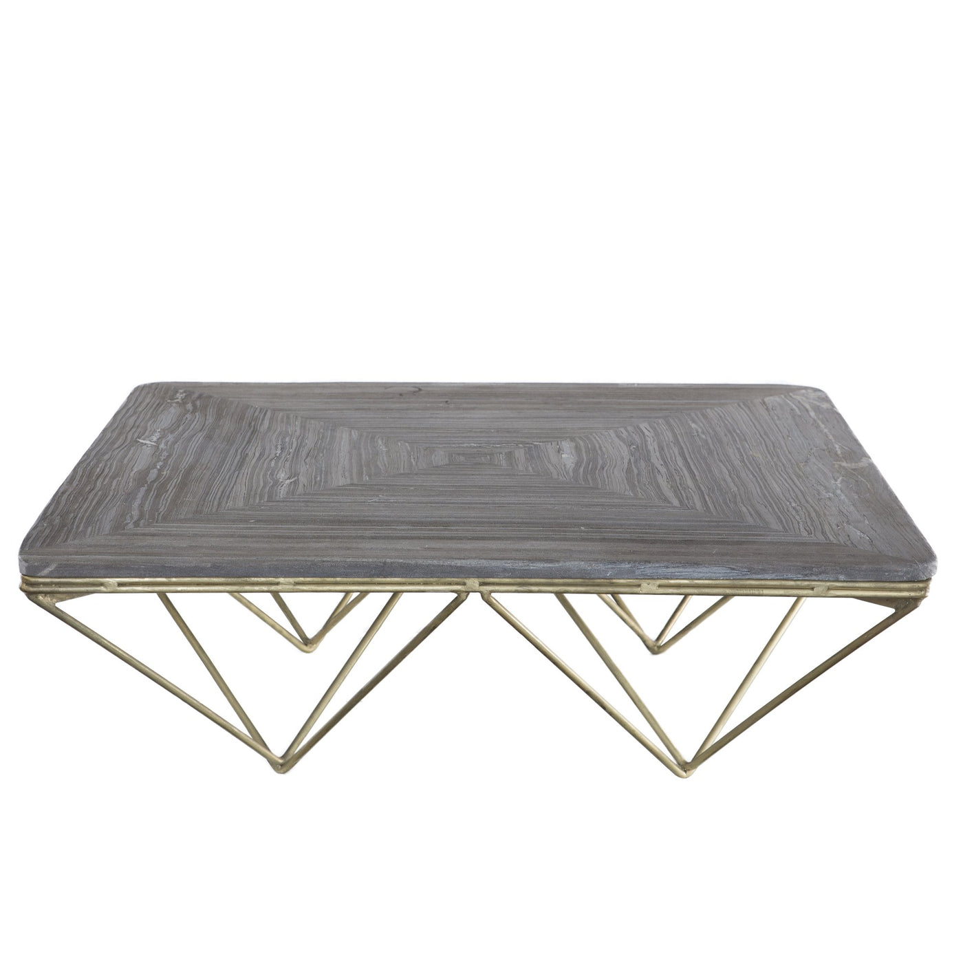 Surprising Distressed Modern Geometric Metal And Stone Coffee Table Ncnpc Chair Design For Home Ncnpcorg