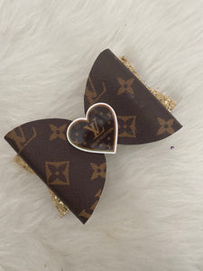 Designer brown bow
